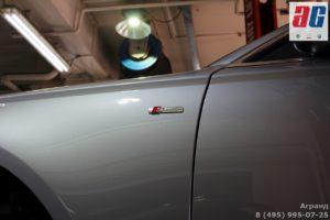 Установка брызговиков Audi