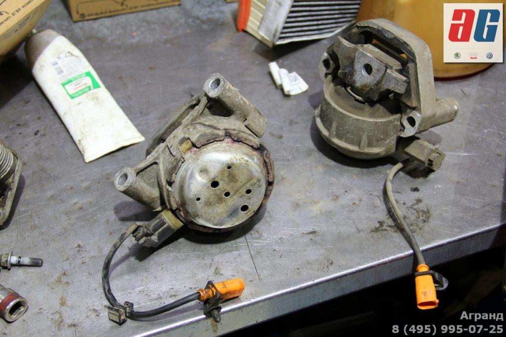 a8 d4 замена активных опор двигателя
